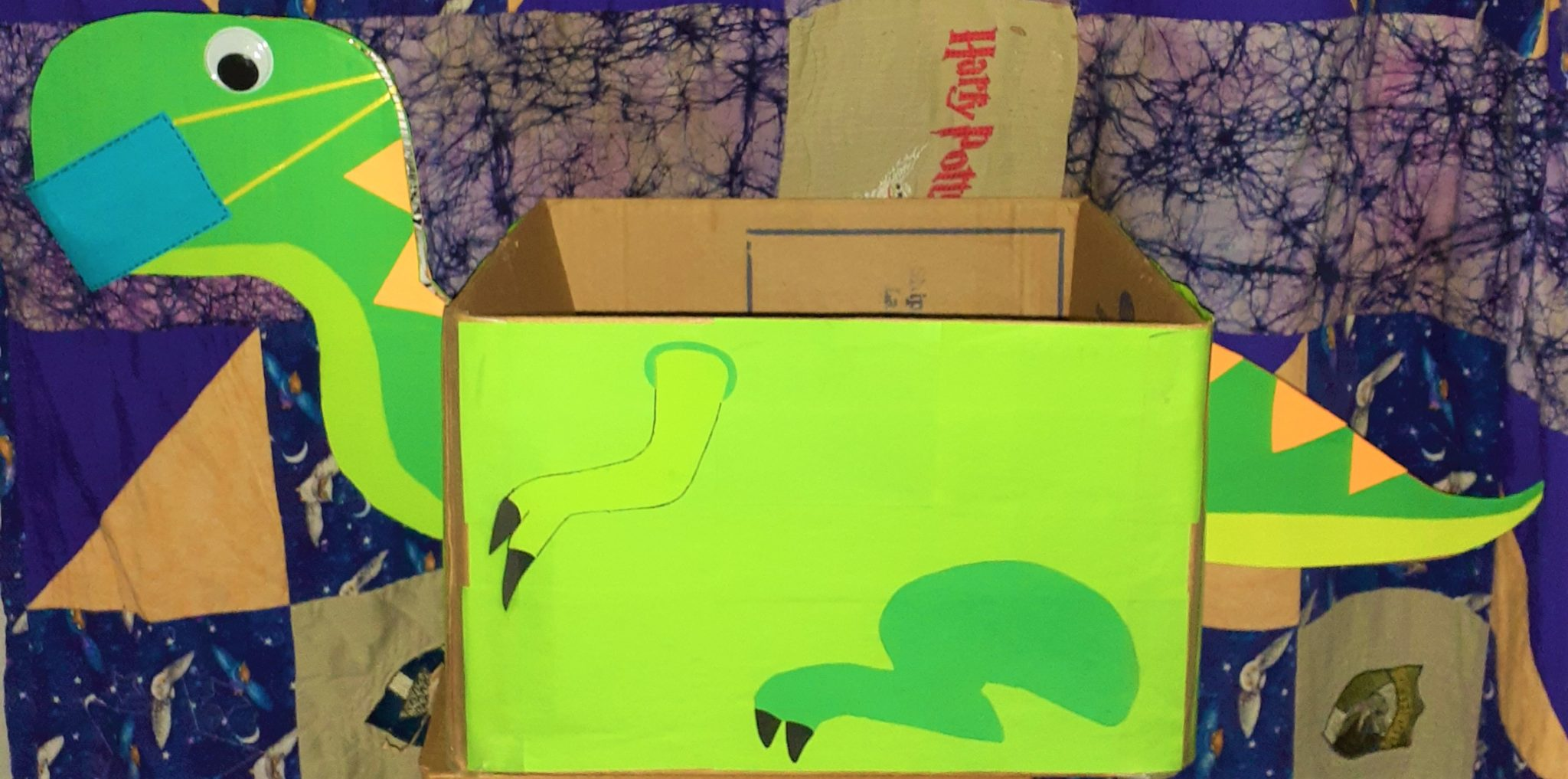 dinosaur covid book boxes